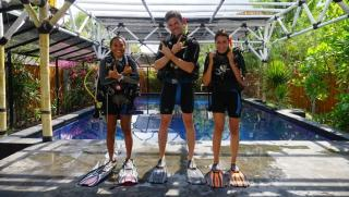 SSI Open Water Pool Training Gili Air